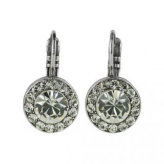 "Lovable Pavé Leverback Earrings ""On a Clear Day\"""
