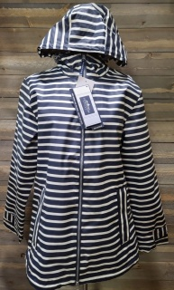 Navy Stripe Rain Jacket Medium