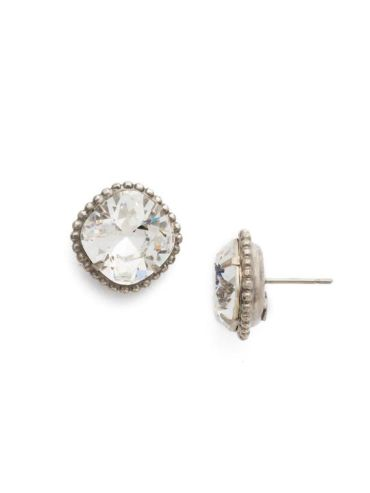 Cushion-Cut Solitaire Stud Earrings