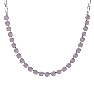 "Must-Have Everyday Necklace Sun-Kissed ""Lavender\"" - Rhodium"